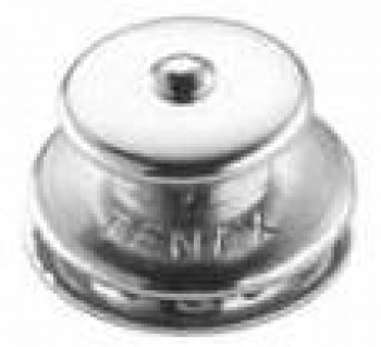 Tenax-knob top part of large, brass-plated