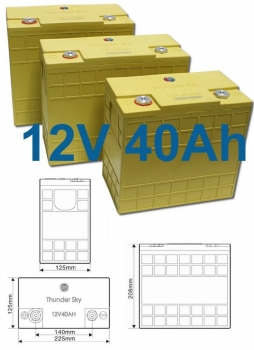 Winston WB-LP12V40AH lithium battery, Li-Ion, LiFeYPO4 12.8V/40Ah,Thundersky TS- LP12V40AH, Thunder Sky TS LP12V40AH battery