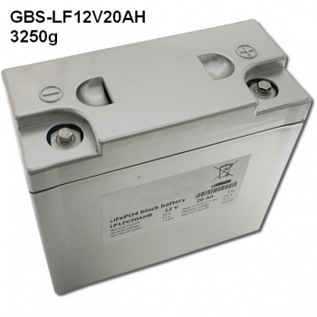 GBS-LF12V20AH lithium battery, Li-Ion, LiFePO4 12.8V/20A battery