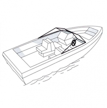 Universal Tarpaulin for Motor Boat with outboard motor, max. L570cm x W250cm