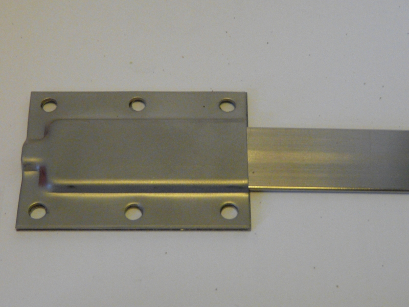 Flanges Wall mounted, Stainless Steel, long 6 hole